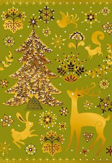 Beautiful and Bright Christmas Card,