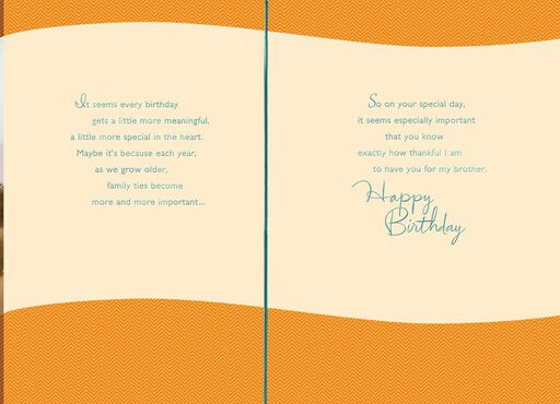 Thankful for a Brother Birthday Card,