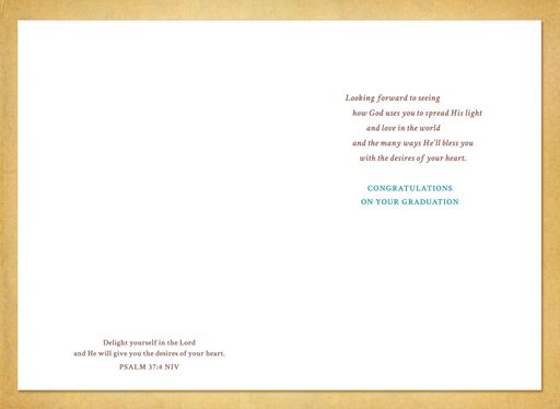 Life Is Filled With Blessings Religious Graduation Card for College Graduates,