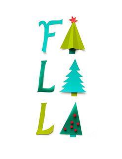 Fa La La Trees Christmas Card,