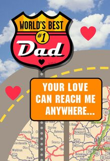 #1 Dad Valentine's Day Card With Car Magnet,