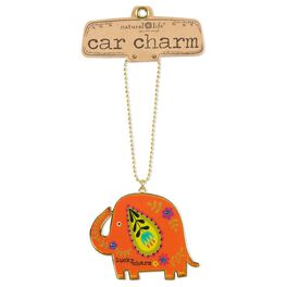 Natural Life Glitter and Gold Car Charm Elephant Lucky, , large