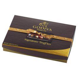 Godiva Chocolatier Signature Chocolate Truffles in Gift Box, 24 Pieces, , large