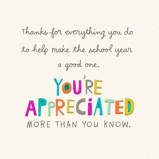 Teacher Appreciation Cards | Hallmark