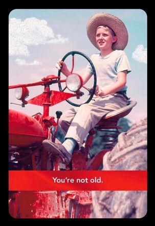 Older Equipment Funny Birthday Card
