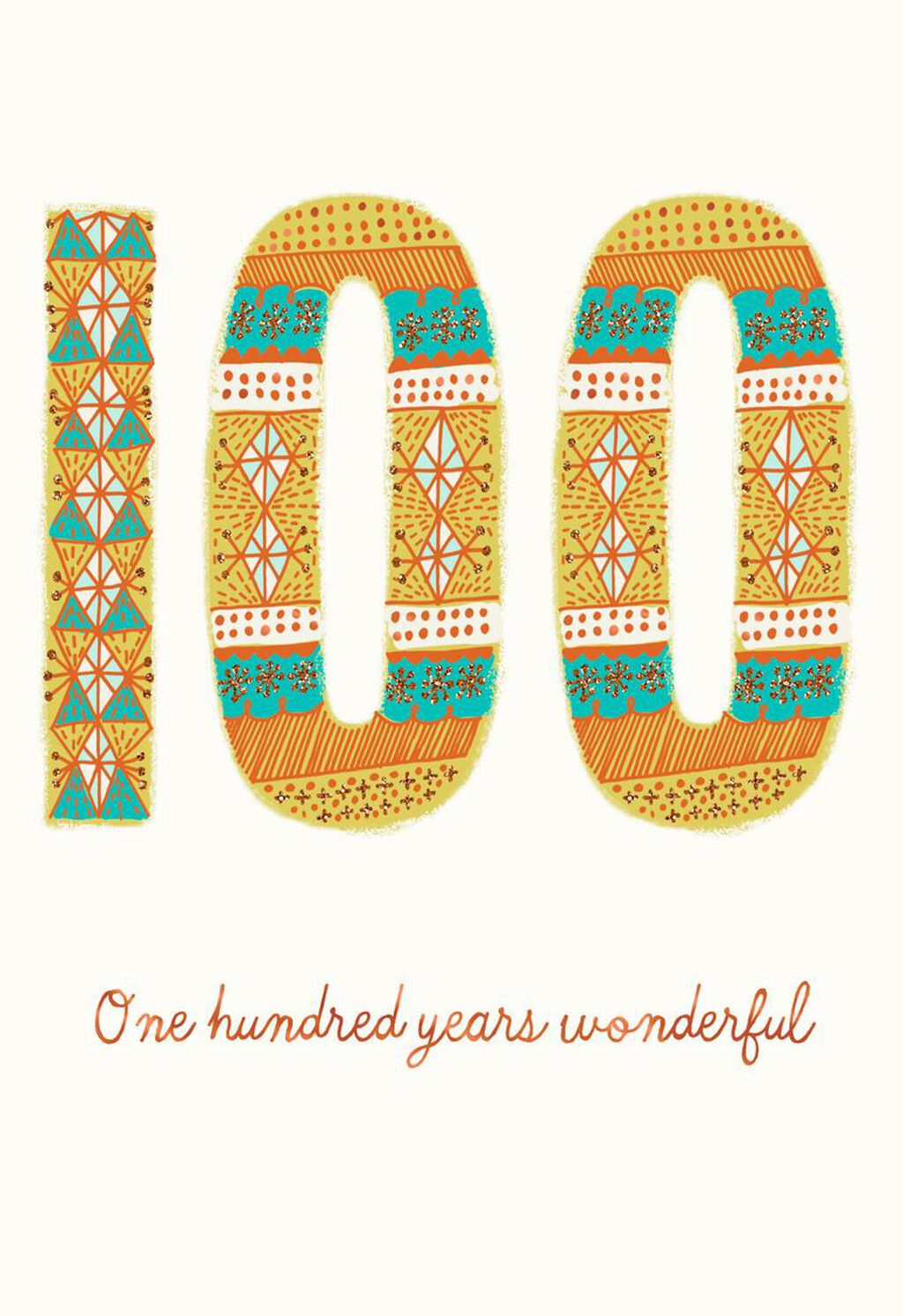 100 Years Wonderful 100th Birthday Card