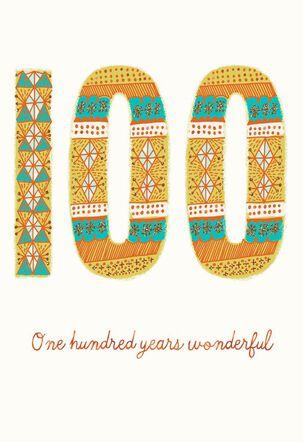 100 Years Wonderful Birthday Card