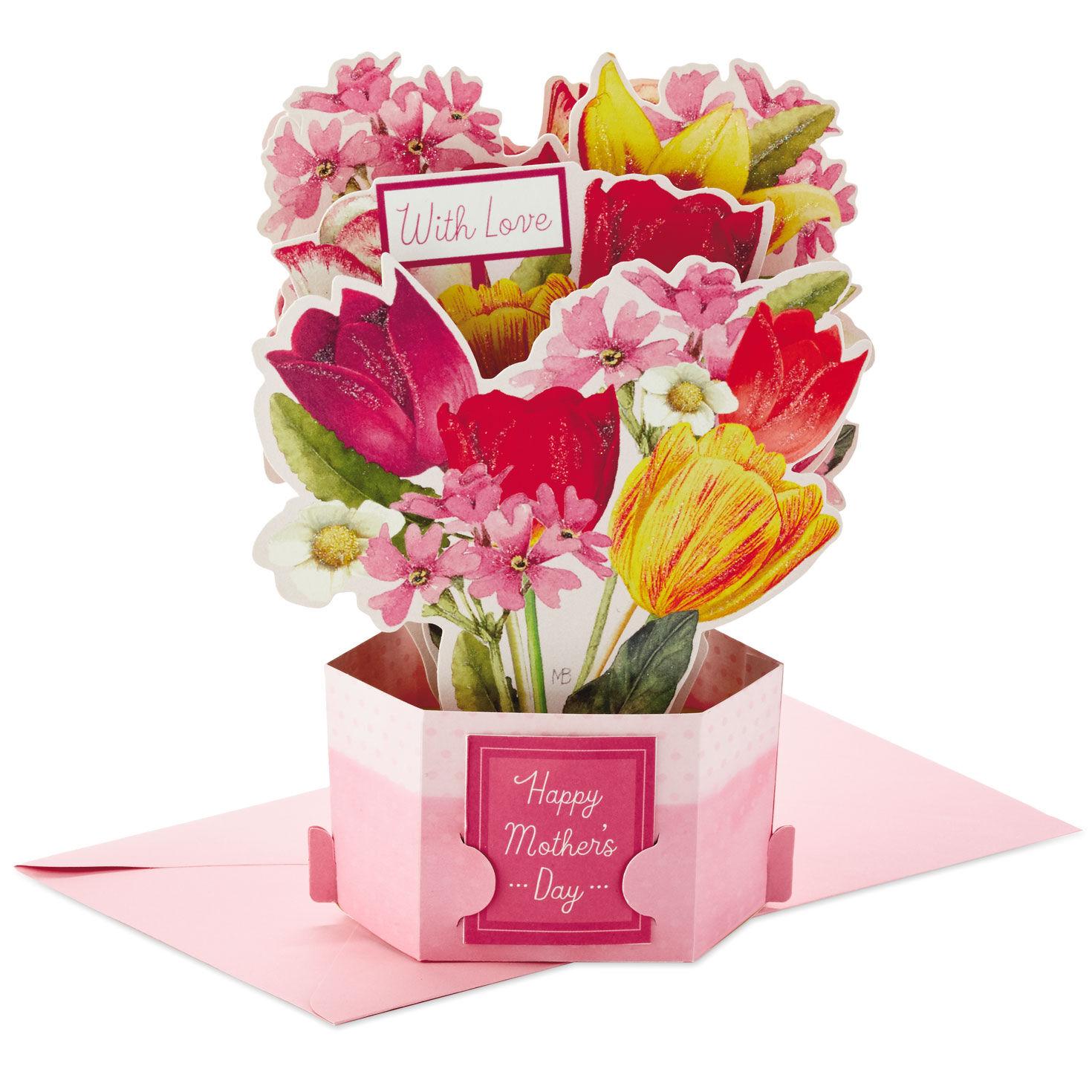 Happy Birthday Mother Teapot Flower Bouquet Marjolein Bastin Hallmark Card
