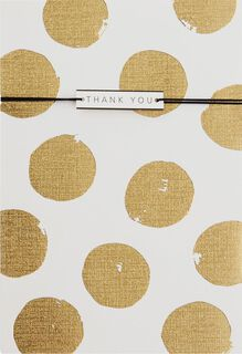 Gold Polka Dots Thank You Card,