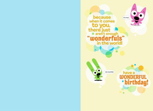 HoopsyoyoTM You Are Wonderful Birthday Card With Sound
