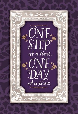 One Day at a Time Encouragement Card