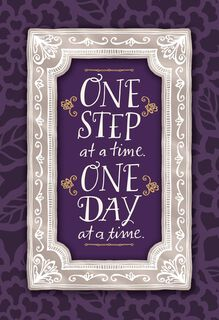 One Day at a Time Encouragement Card,