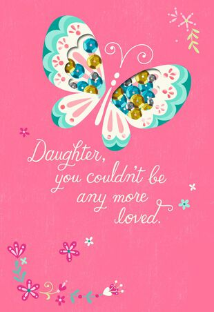 Wishes For A Special Day Birthday Card Daughter