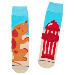 Dog and Hydrant Toe of a Kind Socks, , large