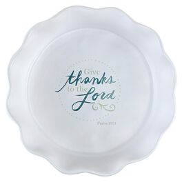 """DaySpring Give Thanks Pie Plate, 10.5"""", , large"""
