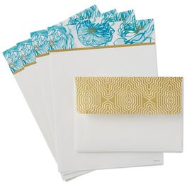 Watercolor Blooms Stationery Paper Set, 20 Sheets/Envelopes, , large
