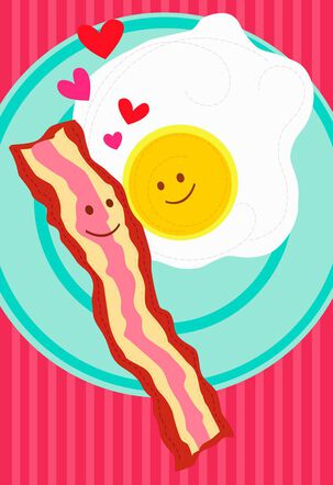 Bacon and Eggs Duo Musical Valentine's Day Card