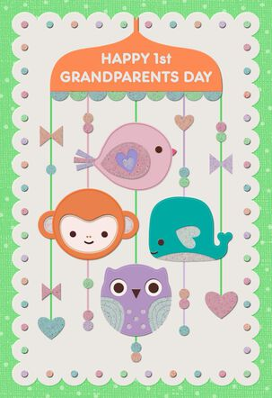 Baby Mobile Grandparents Day Card From New Grandbaby