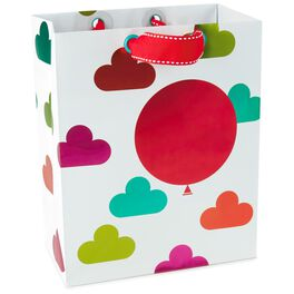 """Red Balloon and Colorful Clouds Medium Gift Bag, 9.5"""", , large"""