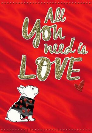 Dog with Heart Valentine's Day Card