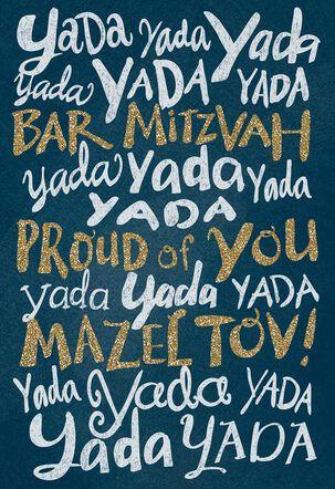 Yada Yada Yada Funny Bar Mitzvah Card