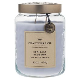 Crafters & Co. Sea Salt Blossom Candle, 22-oz, , large