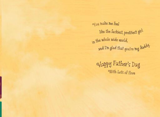 Daddy's Little Girl Father's Day Card From Daughter,