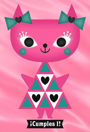 Kitten Spanish-Language 1st Birthday Card
