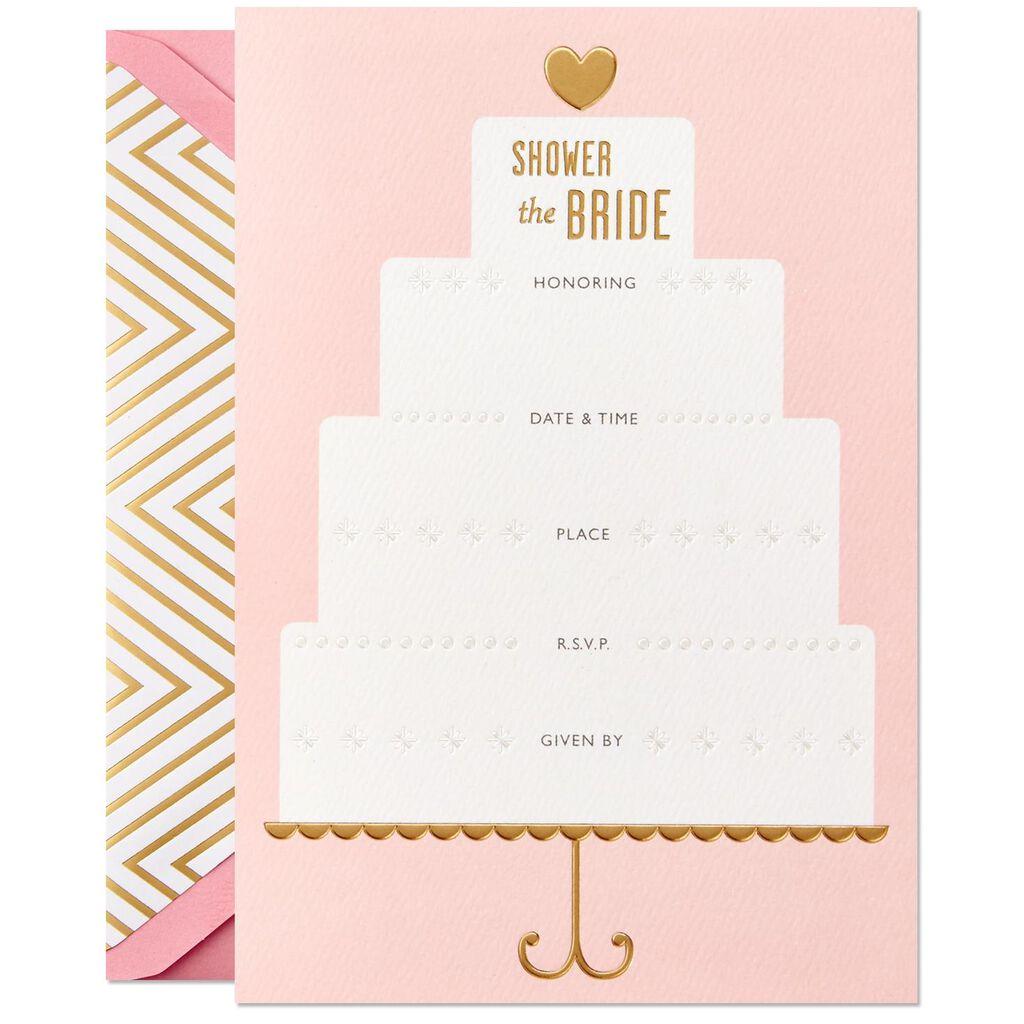 Wedding Shower Invites.Wedding Cake Bridal Shower Invitation Box Of 12