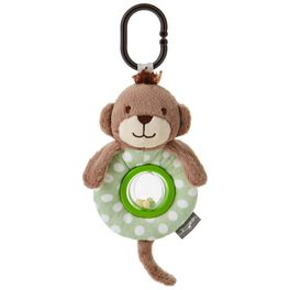 Monkey Stuffed Animal Car Seat and Stroller Toy, , large