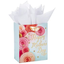 "Honeycomb Flowers Mother's Day Medium Gift Bag With Tissue Paper, 9.5"", , large"