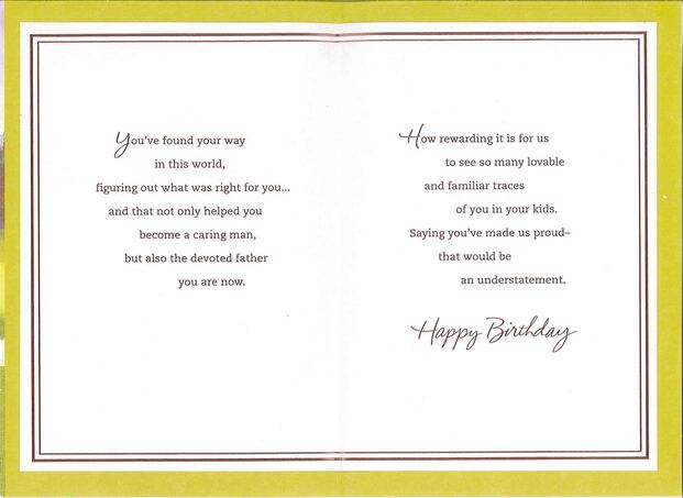 Son Youre A Devoted Father Birthday Card For