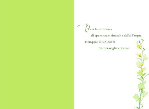 Wonder and Joy Italian-Language Easter Card,