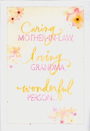 Caring Mother-in-Law & Loving Grandma Mother's Day Card