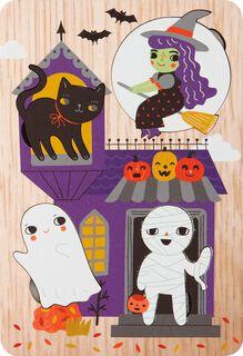 Spooky Cute Puzzle Halloween Card,