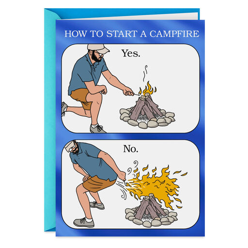 Get Fired Up Funny Fathers Day Card