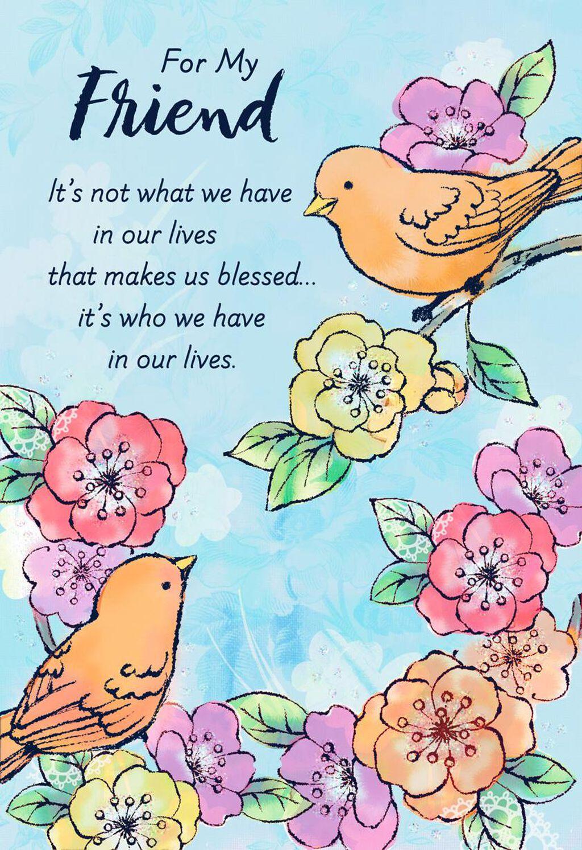 Birds And Flowers Friend Birthday Card Greeting Cards Hallmark
