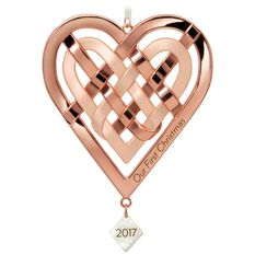 Our First Christmas Heart Ornament - Keepsake Ornaments ...