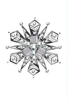Geometric Snow Gems Christmas Card,