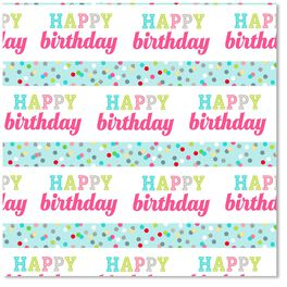 Birthday Confetti Wrapping Paper Roll, , large