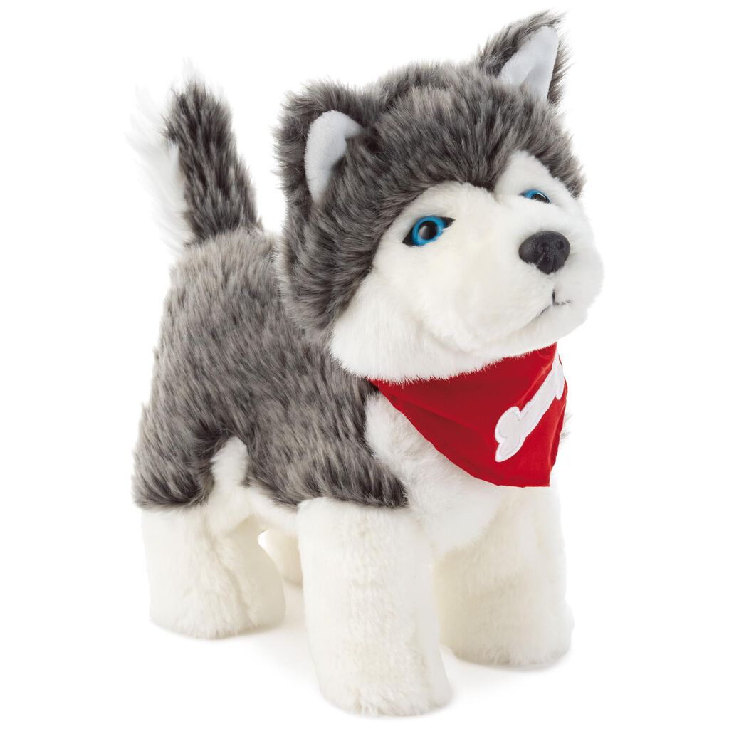 Pet Husky Dog Musical Stuffed Animal With Sound And Motion 11