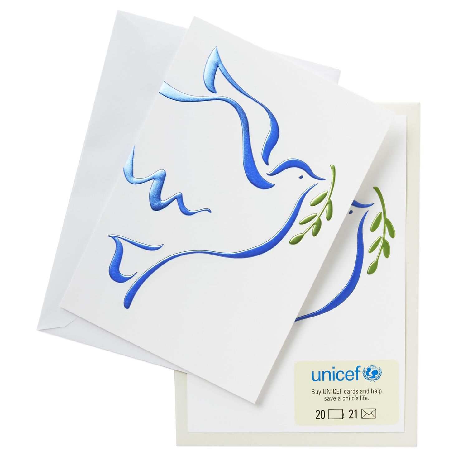 UNICEF Soaring Dove Christmas Cards, Box of 20 - Boxed Cards - Hallmark