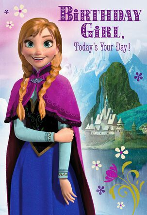 Disney Frozen Birthday Card With Stickers