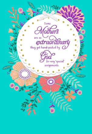 Hand-Picked by God Religious Mother's Day Card
