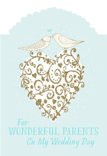For My Parents On My Wedding Day Card,