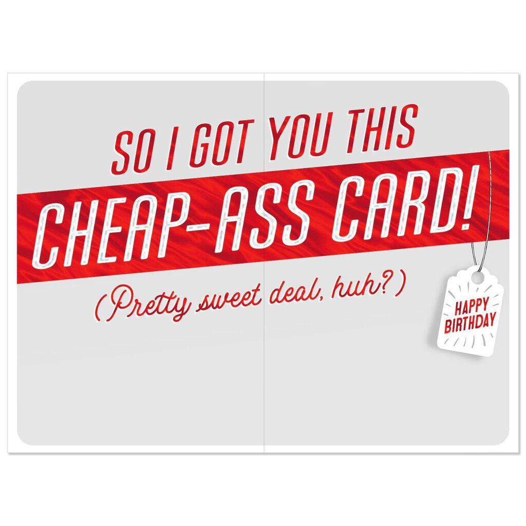 Card Cheap Ass Bargain Birthday