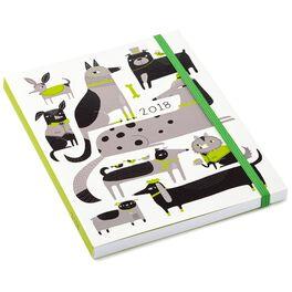 Artful Dogs 2018 Planner Calendar, 12-Month, , large