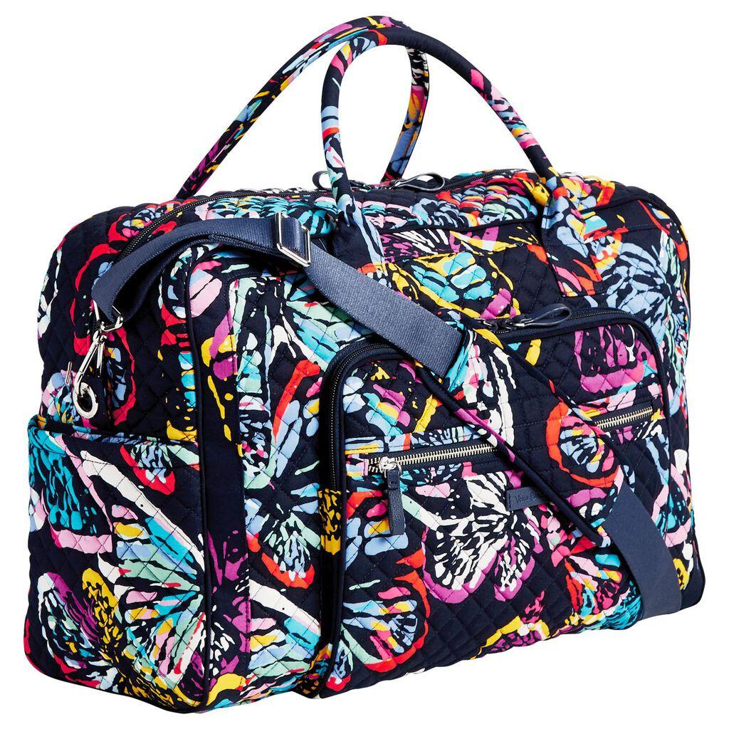 Vera Bradley Weekender Travel Bag In Erfly Flutter