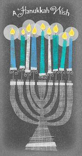 Menorah Hanukkah Money Holder Card,