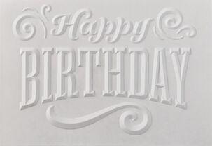 Embossed Happy Birthday Blank Card